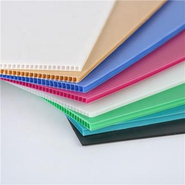 Polypropylene Material Extruded Corrugated Plastic Twin Wall Sheets