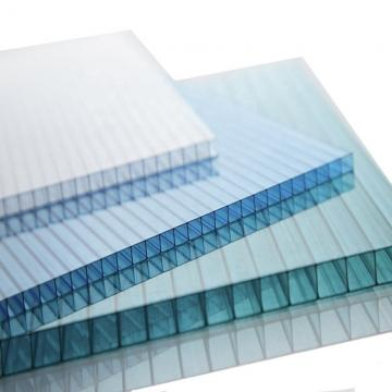 Aoci Clear/Blue-green Plastic Sheet Polycarbonate Hollow Sheet