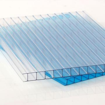 50 Micron UV Coating Clear Polycarbonate Twin Wall Hollow Sheets