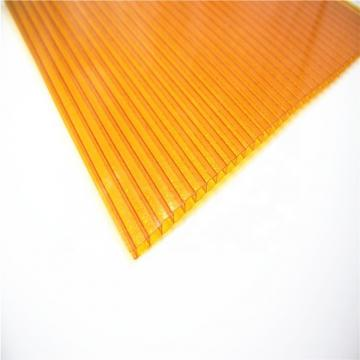 Clear Twin-Wall Polycarbonate Hollow Sheet for Canopy