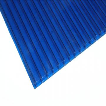 4mm to 12mm Thick UV Coating Clear Hollow Twin Wall Polycarbonate Sheet with Competitive Price