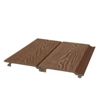 Outdoor 3D Emboss Wood Garin WPC Wall Panel