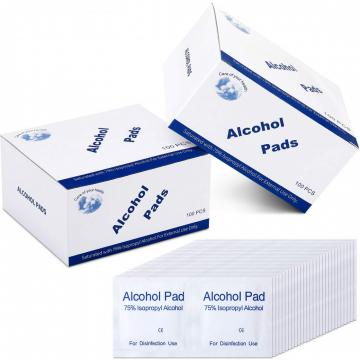 Individual Packed 70% Isopropyl Alcohol Prep Pad for Disinfecting CE