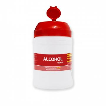 Warehouse Disinfectant Antibacterial Hand Sanitizing Cleaning 80PCS Barrel 75%Alcohol Wipes