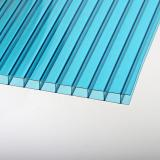6mm White Twinwall Polycarbonate PC Plastic Hollow Roof Panel Sheet for Bus Station Shelter